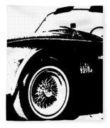 1964 Shelby Cobra Sketch Fleece Blanket