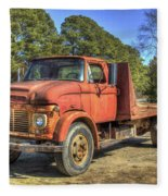 1965 Ford F600 Snub Nose Commercial Truck Fleece Blanket