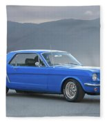 1965 Ford Mustang 'blue Coupe' I Fleece Blanket