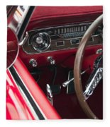 1965 Ford Mustang Fastback Dash Fleece Blanket