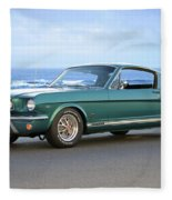 1965 Ford Mustang Fastback II Fleece Blanket