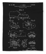 1965 Golf Shoes Patent Fleece Blanket