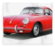 1965 Porshe 356 Sc Coupe Fleece Blanket