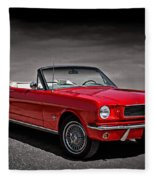 1966 Ford Mustang Convertible Fleece Blanket