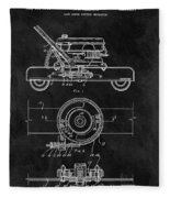 1966 Lawn Mower Patent Image Fleece Blanket