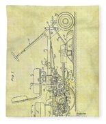 1966 Riding Mower Patent Fleece Blanket