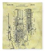 1966 Rifle Patent Fleece Blanket