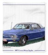1967 Corvair Monza Spyder Fleece Blanket
