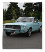 1967 Ford Mustang Watts Fleece Blanket