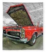 1967 Pontiac Gto American Muscle Car Fleece Blanket