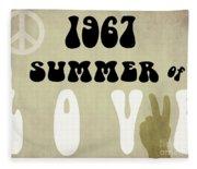 1967 Summer Of Love Newspaper Fleece Blanket