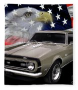 1968 Camaro Ss Tribute Fleece Blanket
