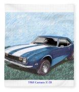 1968 Chevrolet Camaro Z 28 Fleece Blanket