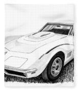 1968 Corvette Fleece Blanket