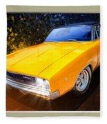 1968 Dodge Charger Coupe Fleece Blanket