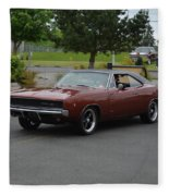 1968 Dodge Charger Grow Fleece Blanket