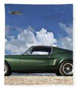 1968 Ford Bullitt Mustang Gt 390 Fastback, P-51 Mustang, Plymouth Rock Chicken Fleece Blanket