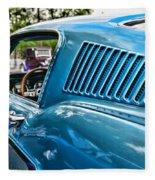 1968 Ford Mustang Fastback In Blue Fleece Blanket