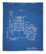 1968 Lift Truck Patent Fleece Blanket