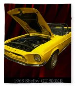 1968 Shelby Gt 500kr Fleece Blanket