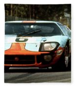 1969 24 Hours Of Le Mans Ford Gt40 First Place, Mixed Media  Fleece Blanket
