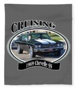 1969 Chevelle Ss Nuckolls Fleece Blanket