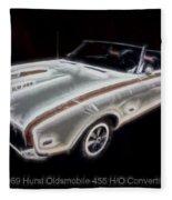 1969 Hurst Oldsmobile 455 Ho Electric Fleece Blanket