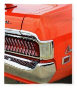 1969 Mercury Cougar Tail Light With Logos Fleece Blanket