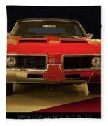 1969 Oldsmobile 442 W-30 Fleece Blanket