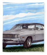 1970 Dodge Challenger Fleece Blanket
