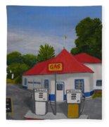 1970s Gas Station Fleece Blanket