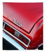 1971 Chevy Nova - Red Fleece Blanket