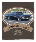 1972 Buick Gs455 Stage 1 Lundbom1972 Buick Gs455 Stage 1 Lundbom Fleece Blanket