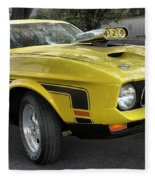 1972 Ford Mustang Mach 1 Fleece Blanket