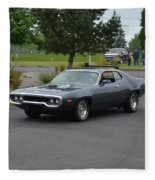 1972 Plymouth Roadrunner Grow Fleece Blanket