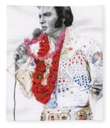 1973 Aloha Bald Headed Eagle Suit Fleece Blanket