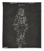 1973 Astronaut Space Suit Patent Artwork - Gray Fleece Blanket