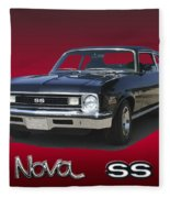 1973 Nova S S 350 Fleece Blanket