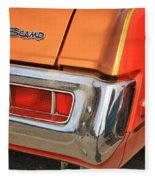 1973 Plymouth Scamp Tail Lights And Logo Fleece Blanket