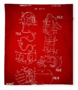 1973 Space Suit Elements Patent Artwork - Red Fleece Blanket
