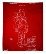 1973 Space Suit Patent Inventors Artwork - Red Fleece Blanket