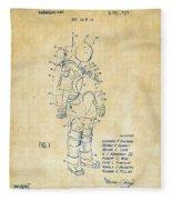 1973 Space Suit Patent Inventors Artwork - Vintage Fleece Blanket