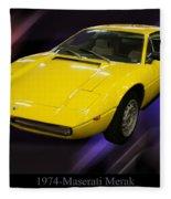 1974 Maserati Merak Fleece Blanket