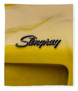 1976 Corvette Stingray Side Emblem Fleece Blanket