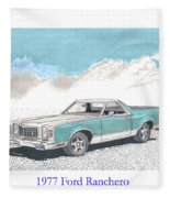 1977 Ford Ranchero Fleece Blanket