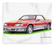1989 Saleen Mustang Convertible Fleece Blanket