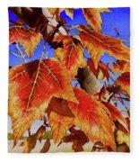 #199 Red Maple Fleece Blanket