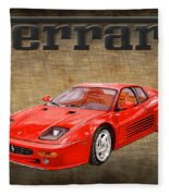 Ferrari F 512m 1995 Fleece Blanket