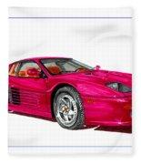 Ferrari F 512 M Russo 1995 Fleece Blanket