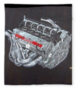 1996 Ferrari F1 V10 Engine Fleece Blanket
